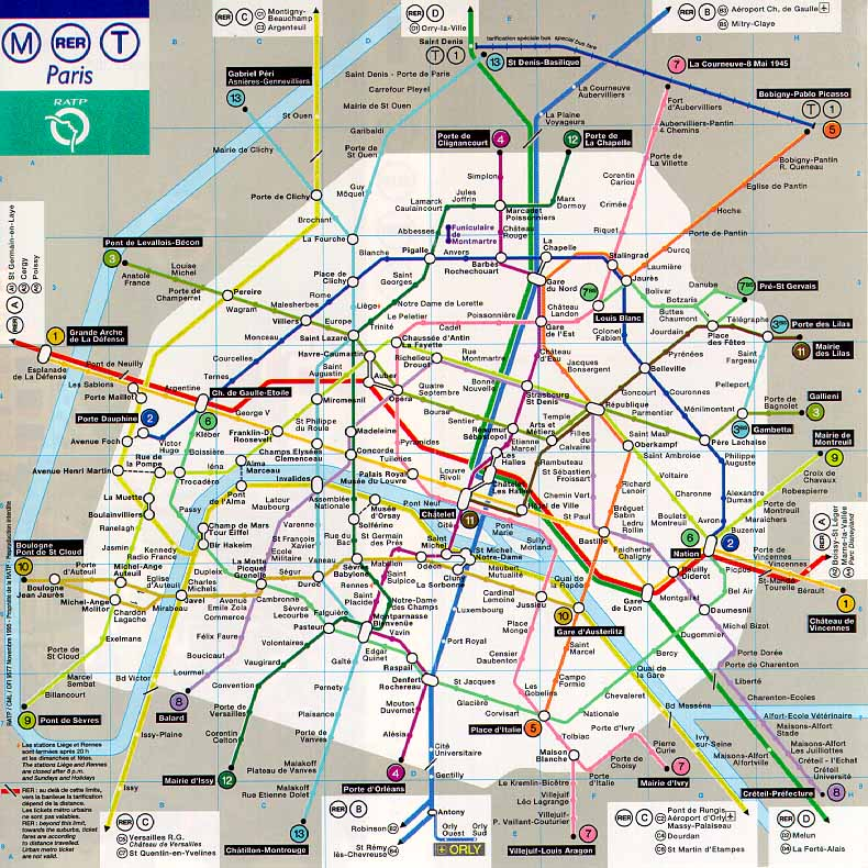 plan du metro  Map of World Pictures